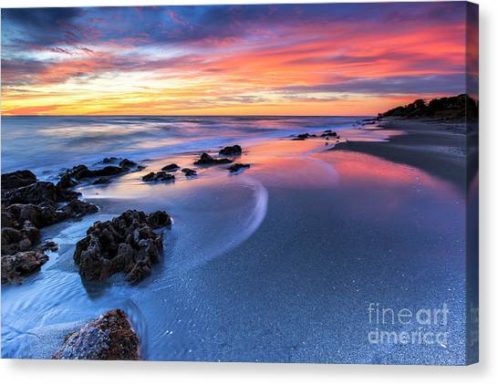 Florida Beach Sunset 4 Canvas Print