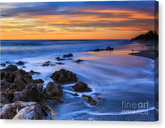 Florida Beach Sunset Canvas Print