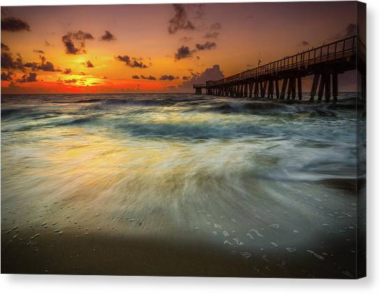 Metallic Canvas Print - Florida Breeze by Edgars Erglis