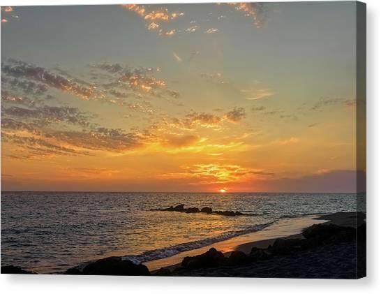 Southwest Florida Sunset Canvas Print - Florida Gulf Coast Sunset  - Casper937 by Frank J Benz
