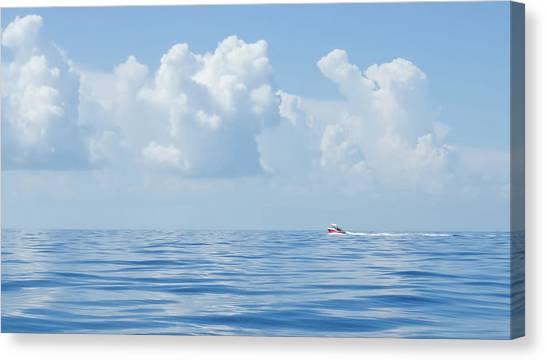 Florida Keys Clouds And Ocean Canvas Print