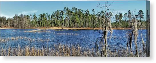 Starkey Canvas Print - Florida Lake Panorama 1 by John Trommer