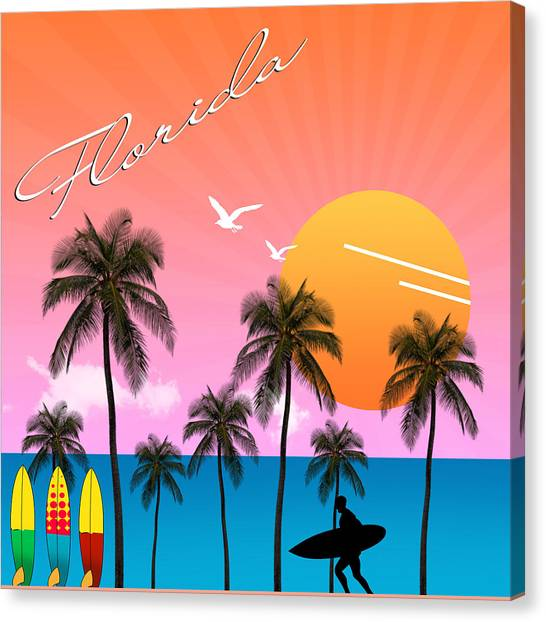 Venice Beach Canvas Print - Florida  by Mark Ashkenazi