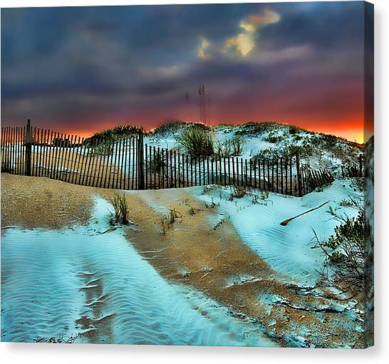 Flagler Beach Canvas Print - Florida Mountain by Joetta West