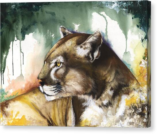 Florida Panthers Canvas Print - Florida Panther 2 by Anthony Burks Sr