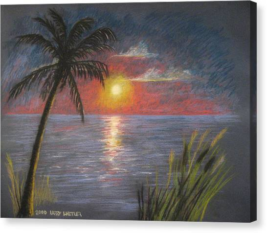 Florida Sunset Canvas Print by Larry Whitler