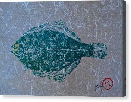 Flounder - Winter Flounder - Black Back Canvas Print