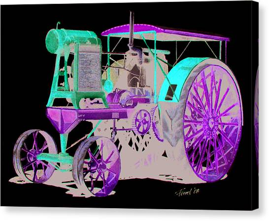Flour City Gas Tractor Canvas Print