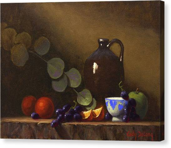 Grapes Canvas Print - Flow Of Light And Color 12 X 16 by Cody DeLong