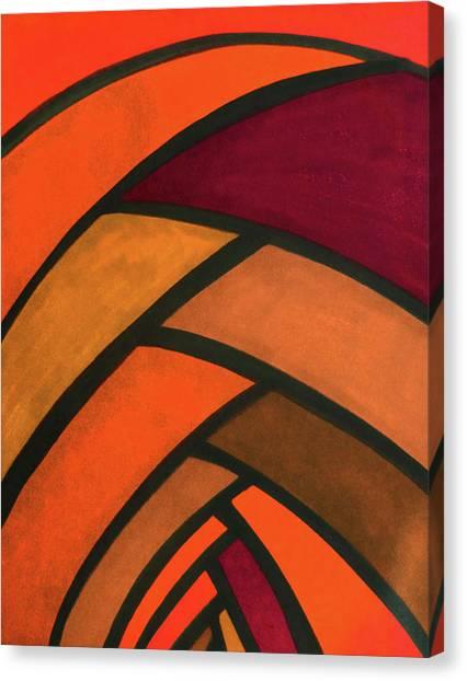 Trampoline Canvas Print - Flow, Orange-red by Megan Howard