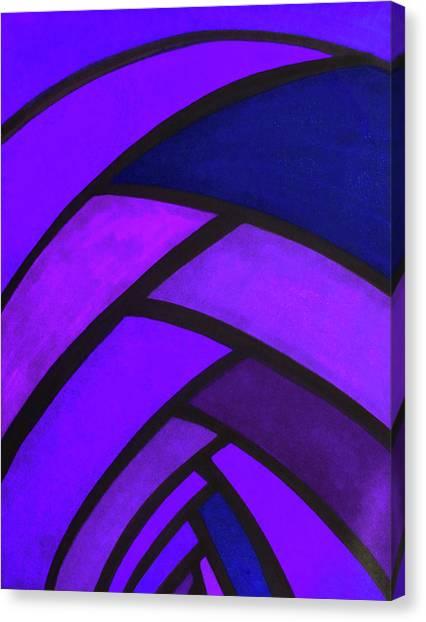 Trampoline Canvas Print - Flow, Purple by Megan Howard