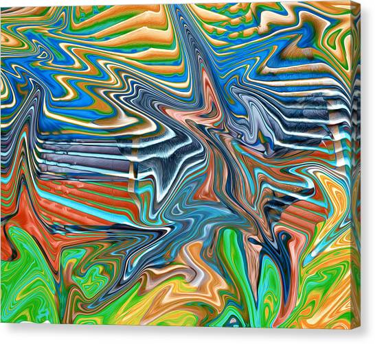 Flow Sketch Canvas Print