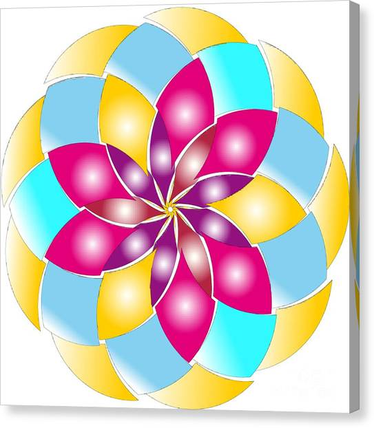Canvas Print featuring the digital art Flower 1317 - Abstract Art Print - Fantasy - Digital Art - Fine Art Print - Flower Print by Ron Labryzz