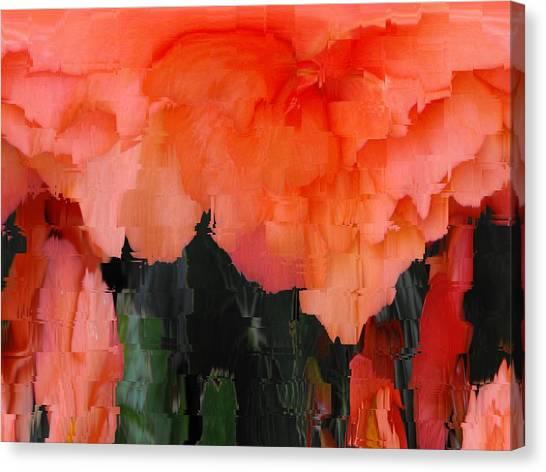 Pixelated Canvas Print - Flower 3 by Tim Allen