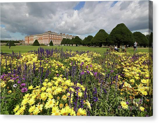 Flower Bed Hampton Court Palace Canvas Print