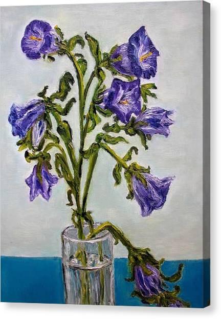 Flower  Bluebells Original Oil Painting Canvas Print by Natalja Picugina