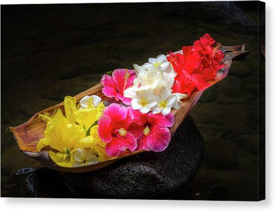 Flower Boat Canvas Print