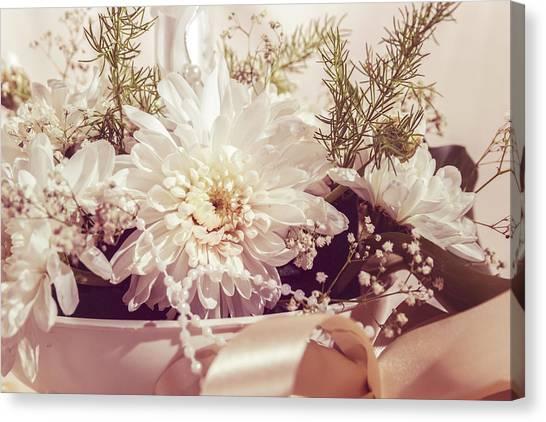 Wedding Bouquet Canvas Print - Flower Bouquet by Thubakabra