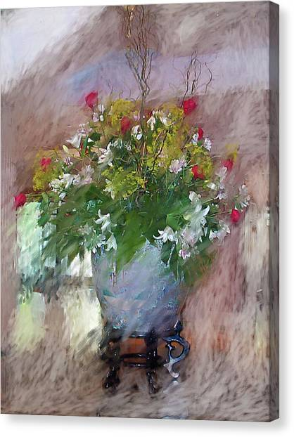 Flower Bowl Canvas Print