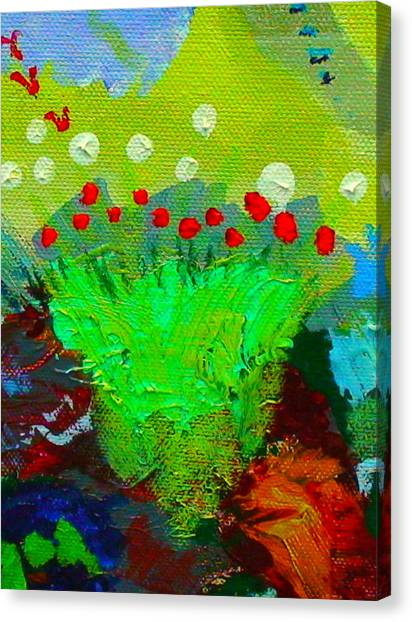 Flower Buds Detail From The Fairy Queen Canvas Print