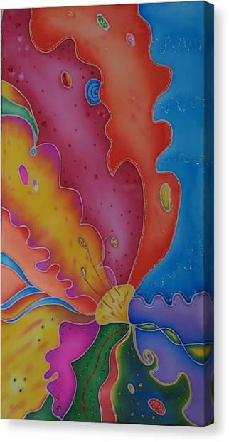 Flower-butterfly   Canvas Print by Tatiana  Antsiferova