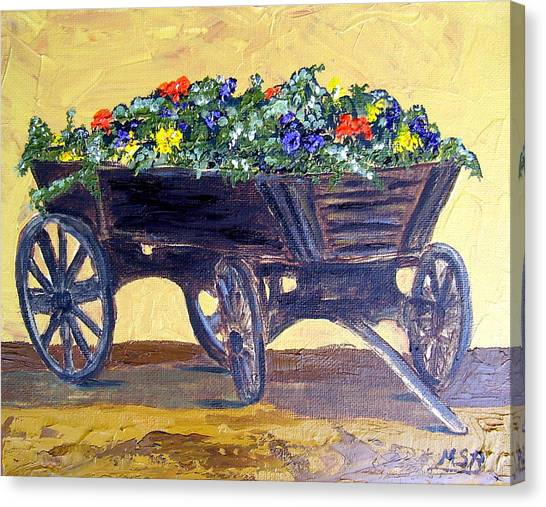 Flower Cart Canvas Print by Maria Soto Robbins