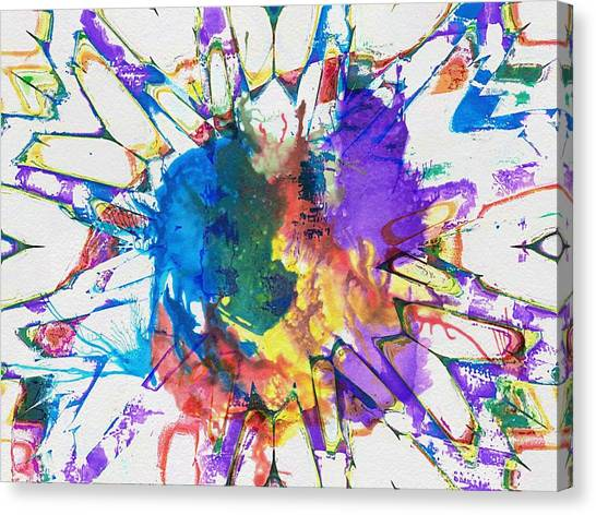 Contemporary Art Canvas Print - Flower by Contemporary Art
