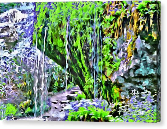Flower Falls Canvas Print