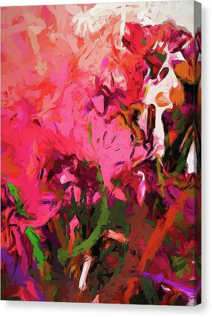 Flower Flames Soul Pink Canvas Print