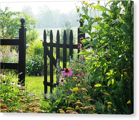 Flower Gate Canvas Print