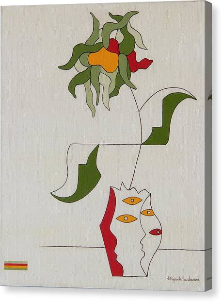 Flower Canvas Print by Hildegarde Handsaeme