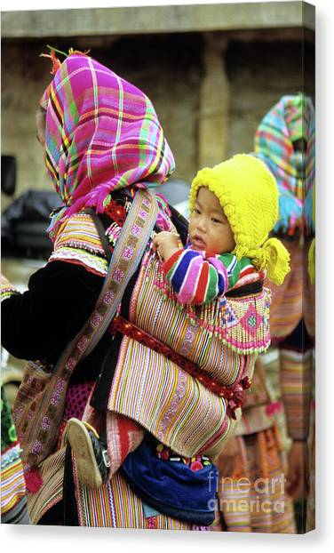 Canvas Print - Flower Hmong Baby 06 by Rick Piper Photography