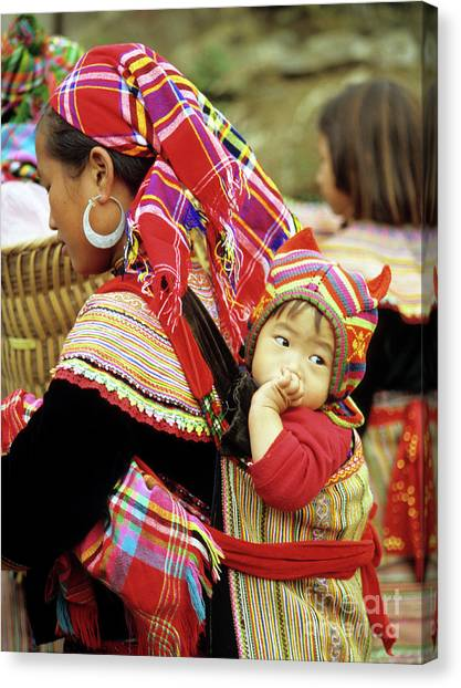 Canvas Print - Flower Hmong Baby 07 by Rick Piper Photography