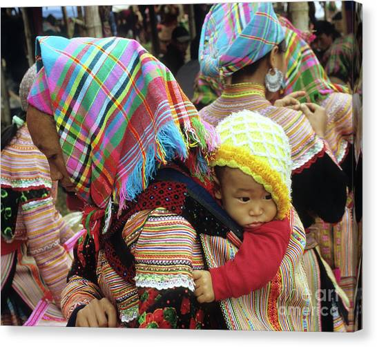 Canvas Print - Flower Hmong Baby 08 by Rick Piper Photography