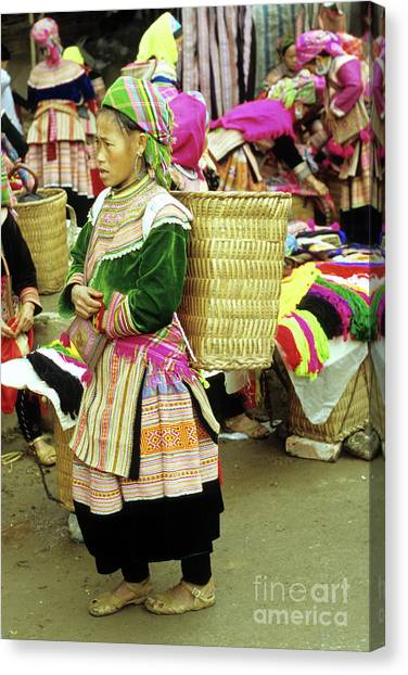 Canvas Print - Flower Hmong Woman 04 by Rick Piper Photography