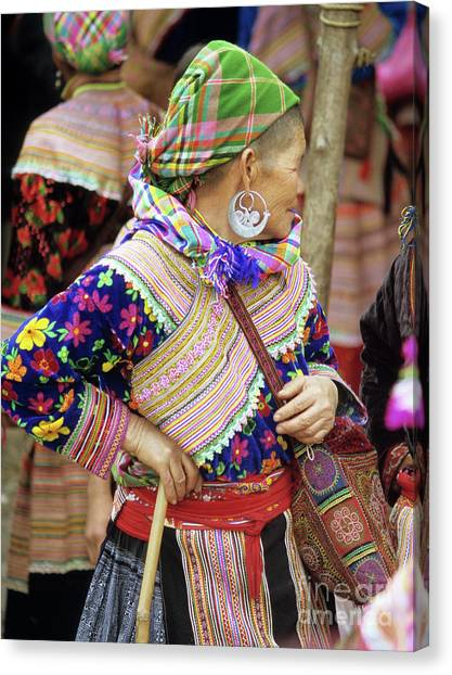 Canvas Print - Flower Hmong Woman 09 by Rick Piper Photography