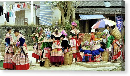 Canvas Print - Flower Hmong Women 02 by Rick Piper Photography