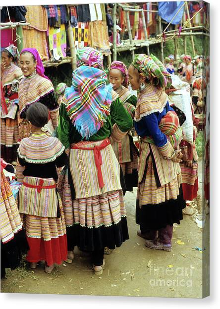 Canvas Print - Flower Hmong Women 03 by Rick Piper Photography