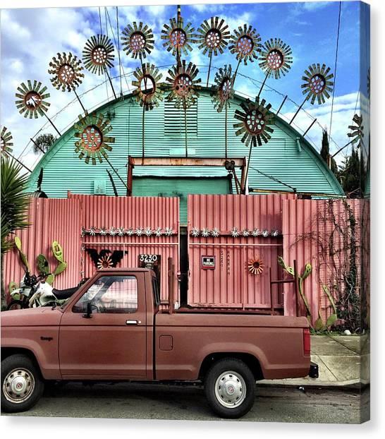 Canvas Print - Flower House by Julie Gebhardt