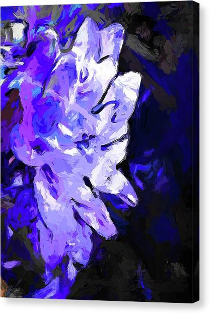 Flower Lavender Lilac Blue Canvas Print