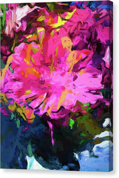 Flower Lolly Pink Yellow Canvas Print
