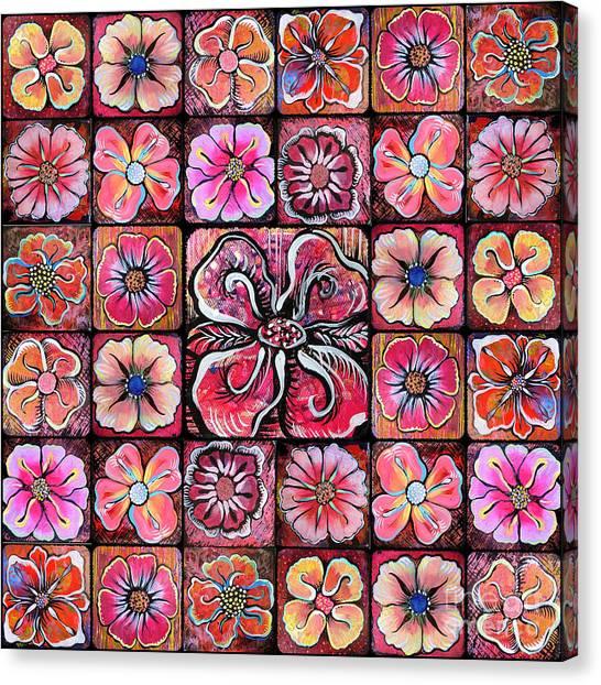 Mandala Canvas Print - Flower Montage by Shadia Derbyshire