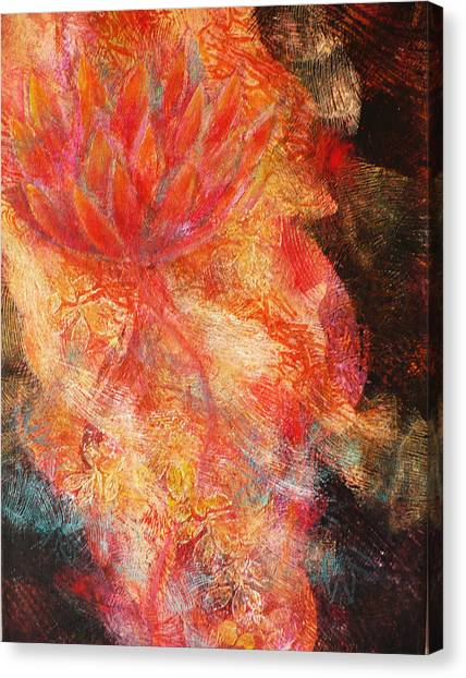 Flower Of The Flame Canvas Print by Sue Reed