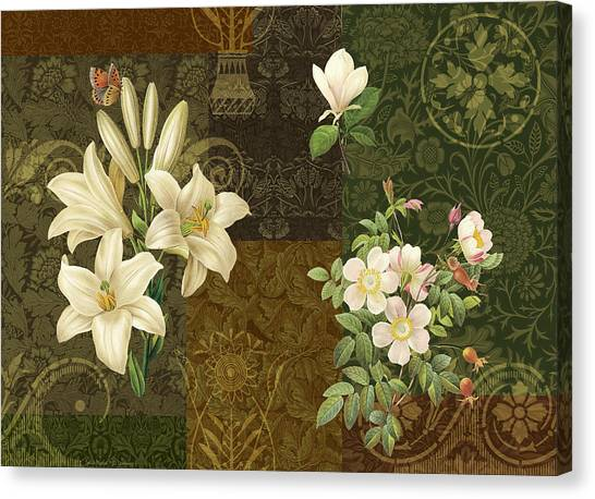 Fabric Canvas Print - Flower Patchwork 2 by JQ Licensing