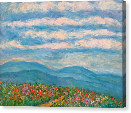 Flower Path To The Blue Ridge Canvas Print