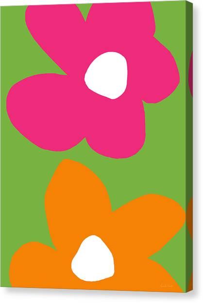 Canvas Print - Flower Power 1- Art By Linda Woods by Linda Woods