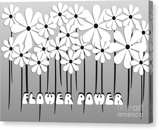 Flower Power - White  Canvas Print