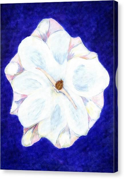 Flower Princess - Www.jennifer-d-art.com Canvas Print by Jennifer Skalecke