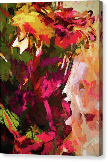 Flower Splash Canvas Print