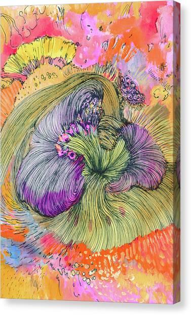 Flower - Ss17dw002 Canvas Print by Satomi Sugimoto